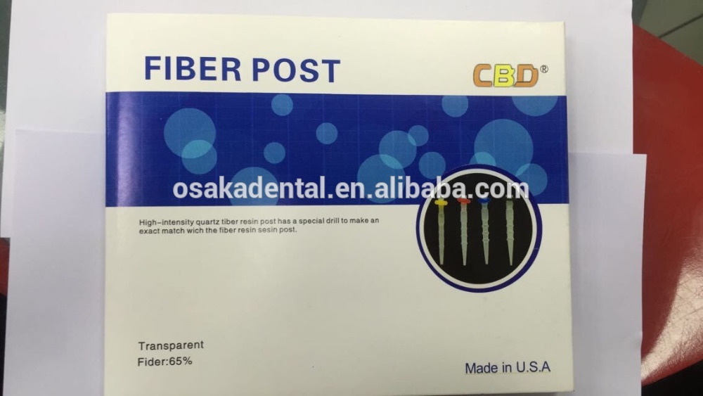 Economical Dental Fiber Post with Drills Made in USA