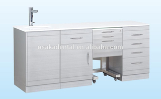 High quality Stainless Steel Dental Cabinet medical cabinet with handle type