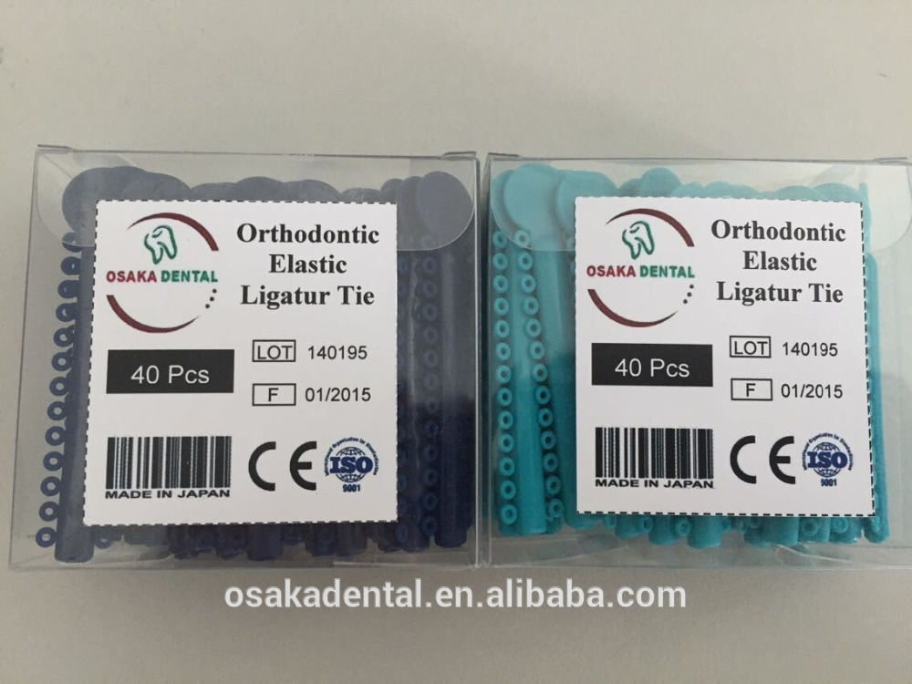 Beautiful Colors Dental Orthodontic Elastic Ligature Tie with CE