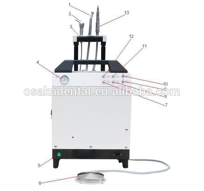 CE,FDA Approved Portable Dental Unit with air compressor