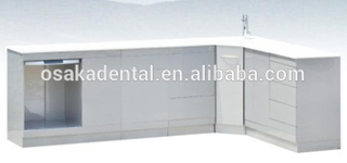 Stainless Steel Dental Cabinet medical cabinet with handle type and touch type