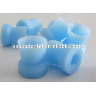 Durable dental disposable blue snap-on prophy cup for polishing PC-320