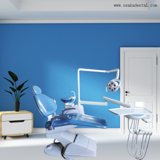 Dental Chair with LED Lamp / Simple Dental Chair for Dental Clinic