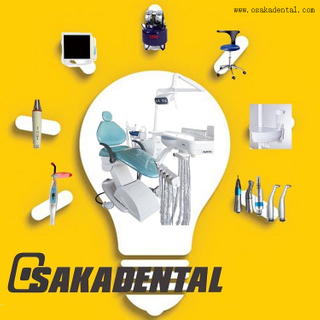 Dental Chair with LED lamp/ air compressor/ scaler/ handpiece/ curing light/ oral camera+monitor OSA-1-LED