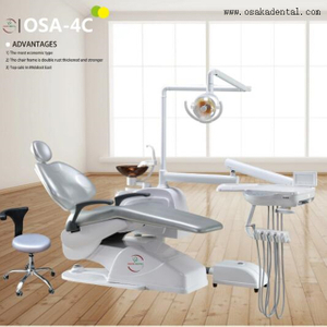 Economic Cheaper Dental Chair Unit with Dentist Stool
