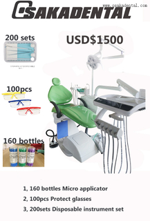 Dental Chair Unit with Disposable Goods