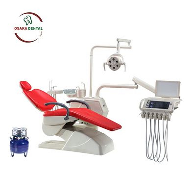 New Design Dental Chair with LED light Multifunction Pedal and Air Compressor