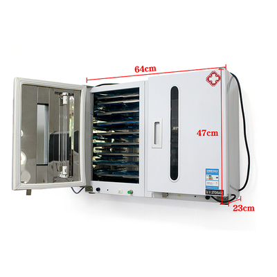 60L Two Door Dental Ultraviolet Sterilization Cabinet with Timing and Ozone with 20 Stainless Tray